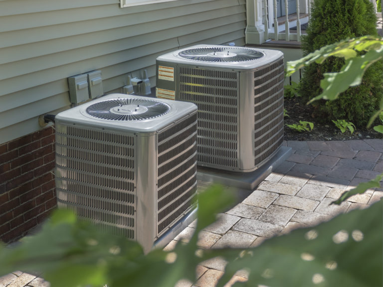 Condensers, HVAC, Heating and Air Units Outside in Charlotte NC